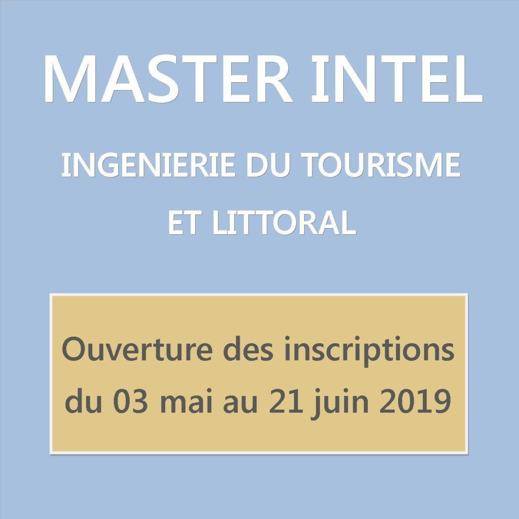 Ouverture inscriptions Master Intel